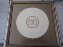 50th anniversary cross stitched framed piece in Alamogordo, New Mexico
