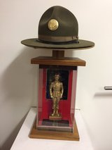Authentic Drill Sgt Hat with Display case and thophy in Stuttgart, GE