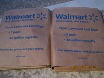 PAPER LAWN AND LEAF BAGS 9 TOTAL in Clarksville, Tennessee
