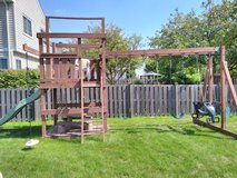 Solid Wood/Sturdy Swingset in GREAT condition! in Joliet, Illinois