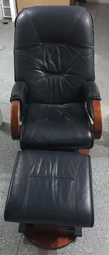 Avantglide Leather Chair and Ottoman in Fort Riley, Kansas
