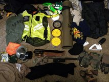 new large high vis vest several pairs tactical gloves and miceslaous gas mask mags for 40 and ni... in Fort Riley, Kansas