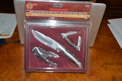 WINCHESTER 2008 LIMITED EDITION WOOD INLAY - STAINLESS STEEL KNIFE SET in Houston, Texas