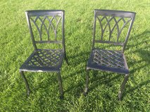 2 metal chairs in Morris, Illinois
