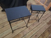 Matching decorative tables/plant stands in Ruidoso, New Mexico