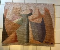 BEAUTIFUL!!  LARGE WOVEN ORIGINAL WALL MODERN ART - LIKE NEW!! - Reduced from $75 in Lockport, Illinois