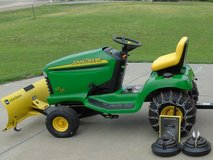 "JD Lawn Tractor with 44"" Snow Blade, Chains & Weights in Fort Riley, Kansas"