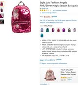 Pink/Silver Sequin Backpack in Hinesville, Georgia