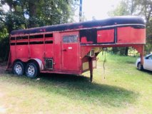Horse trailer with tack room for sale $2500 clear title good tires in Leesville, Louisiana