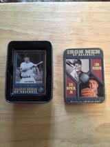 """CAL RIPKIN JR & LOU GEHRIG - 1996 """"Metallic Impressions"""" Embossed Metal Cards with Tin in Fort Lewis, Washington"""