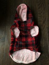 Top Paw Plaid Fuzzy Fleece Dog Coat w/Hood in Fort Campbell, Kentucky