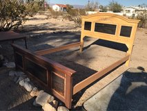 Solid Wood Bed $40 in Yucca Valley, California