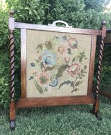Antique Needlepoint Fireplace Screen in Alamogordo, New Mexico