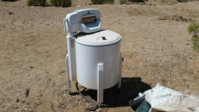 Antique washing machine in Yucca Valley, California