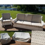 4 patio cushions & 1 sofa / 1 chair - covers included in Warner Robins, Georgia