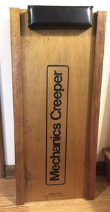 Vintage Wooden Mechanics Creeper, Padded Pillow, Man Cave in Lockport, Illinois