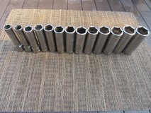 SNAP-ON Tools, 1/2 drive, 6 point, Deep Well Socket Set, Flank Drive, 13 piece set in Lockport, Illinois