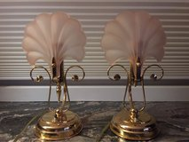 Dresser/Bedside Glass Shell Lamps in Glendale Heights, Illinois