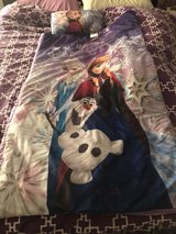 Gently used Frozen girls sleeping bag and pillow in Rolla, Missouri