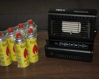 Outdoors Gas Heater and 6 gas cans in Ramstein, Germany