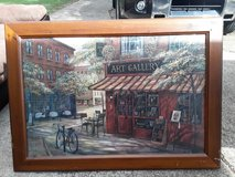 Painting framed in glass in Hopkinsville, Kentucky