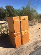 Curb alert 4 Wood kitchen style cabinets FREE in Yucca Valley, California