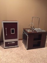 Kids kitchen island and refrigerator (Pottery Barn Kids) in Naperville, Illinois