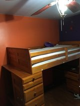 Loft bed with desk and shelves in Glendale Heights, Illinois