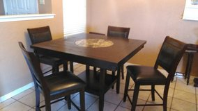 High Top Dining Room Table w/ Lazy Susan in Lawton, Oklahoma