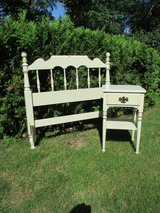 Ethan Allen White Twin Headboard/Nightstand in Bolingbrook, Illinois