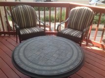 Outdoor chairs/pads and cocktail table in Bartlett, Illinois