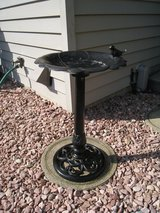 Vintage Cast Iron Standing Bird Bath Pedestal For Patio Yard Outdoor Decoration in Bolingbrook, Illinois