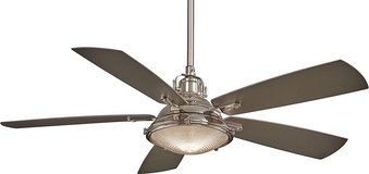 "Minka-Aire Groton 56"" Ceiling Fan with Light & Remote Control, Polished Nickel in Lockport, Illinois"