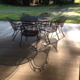 wrought iron table 6 chairs in Leesville, Louisiana