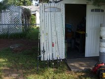 8 fishing poles in Fort Knox, Kentucky