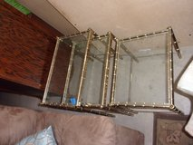 Set of Three Stacking Glass Top Tables in Fort Riley, Kansas