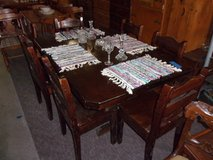 Pine Table With Six Matching Chairs Set in Fort Riley, Kansas