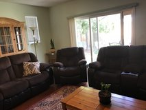 Reclining couch and loveseat in Fairfield, California