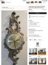 vintage  1950's rare brass Westwood 8 day clock in Brookfield, Wisconsin