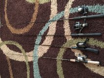 Lot of 4 Fishing Rods and Reels in Leesville, Louisiana