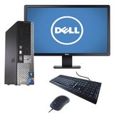 "Dell Desktop with 19"" mon, speakers kb, mouse, wifi, win 10 in Travis AFB, California"