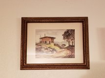 LAST CHANCE REDUCED Framed Watercolor scene in 29 Palms, California