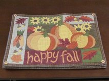 """Happy Fall"" placemats in Bartlett, Illinois"
