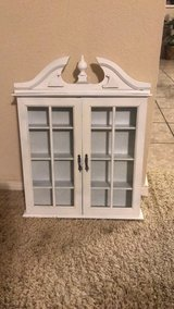 Small Wall cabinet with glass door (oil/nails polish/miniature items) in Houston, Texas