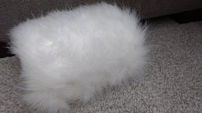 White feather muff in Chicago, Illinois