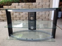 Television Stand With 3 Glass Shelves in Glendale Heights, Illinois