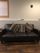 Brown Sofa/couch in Oswego, Illinois