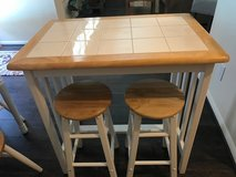 Bar height table w/ 2 stools in The Woodlands, Texas