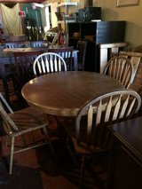 Solid Oak Dinette Table (large pedestal) and Chairs in Leesville, Louisiana