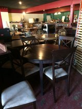 Solid Wood Dinette Table w/Leaf and 6 Chairs in Leesville, Louisiana